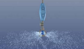 Flat Trajectory Blue Spinner