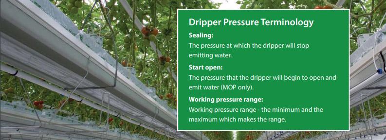 Dripper Pressure Terminology